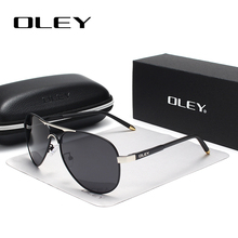 OLEY Brand Men Polarized Sunglasses Classic Pilot Sun glasses Coating Lens Shades For Men/Wome Full set of box Customizable logo