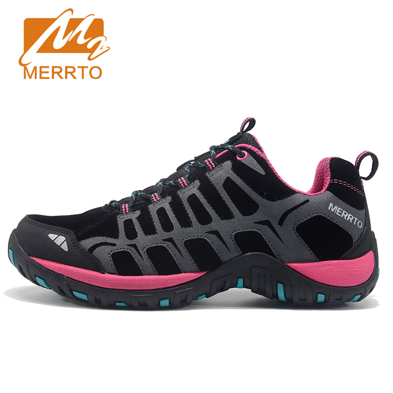 MERRTO Women Hiking Shoes Women Sneakers Leather Outdoor Hiking Trekking Shoes Sneakers For Women Sport Climbing Mountain Shoes 2017 womens sports summer outdoor hiking trekking aqua shoes sandals sneakers for women sport climbing mountain shoes woman