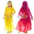 Nova Handmade Crianças Meninas Indianas de Bollywood Trajes de Dança Do Ventre Crianças Dança Do Ventre Desempenho Conjunto de Pano