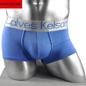 Image 1 - CalvesKelson Boxers 10PCS/Lot Men Bulge Pouch Panties Modal Breathable Softy Cotton Mid Rise Hip Mens Underwear M XXL Men Boxers
