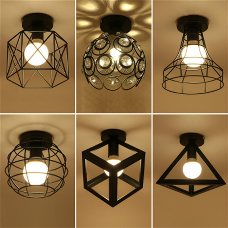 Ceiling Lights & Fans Vintage Ceiling Lights E27 Bulb Led Lamp Modern Art Home Decor Iron Lampshade Lamparas De Techo Luminaria Ceiling Lamp For Bar Terrific Value