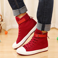 10 43 big size lover design unisex high top canvas shoes 2016 spring solid color flat-bottomed casual shoes chaussures de toile