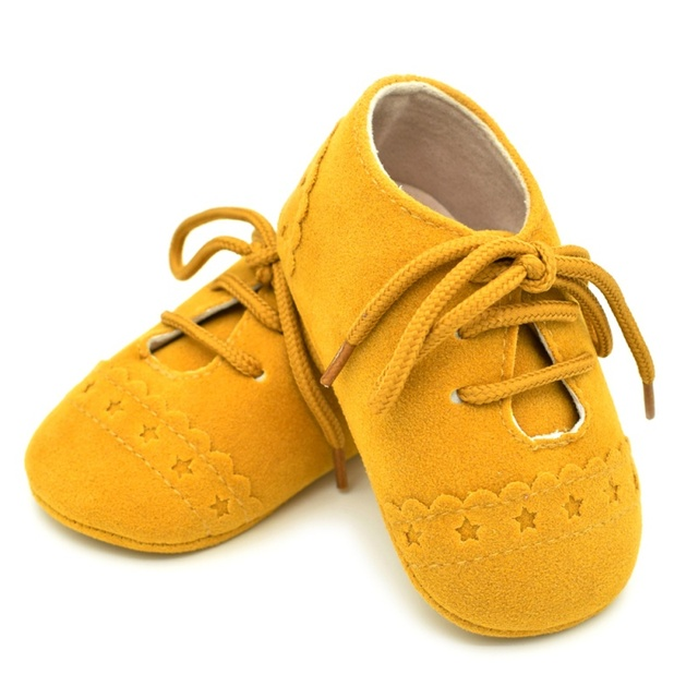 2019 Baby Kids Soft Sole Moccasin Boys Girls Suede Leather Crib Shoes 0-18M 3