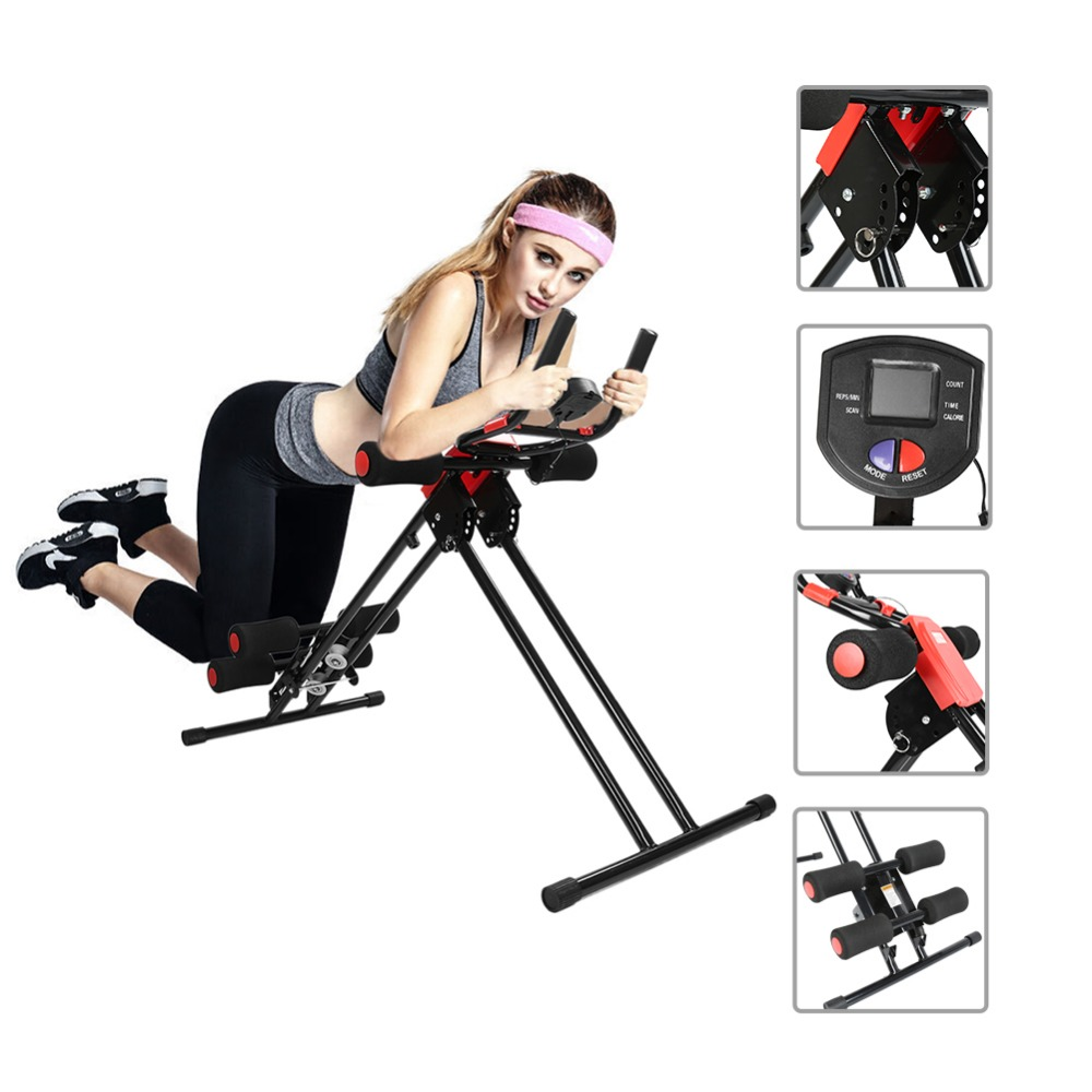 цена Fitness Pedal Exercise bike Trainer Rail Cruncher Abdominal Roller coaster abdominal Machine indoor cycling equipment Home HWC
