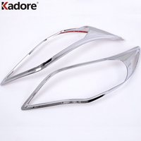 Fit For Toyota Corolla 2011 2012 2013 ABS Chrome Plastic Car Front Headlight Lamp Cover Trim Head Light Lamp Frame Sticker 2pcs