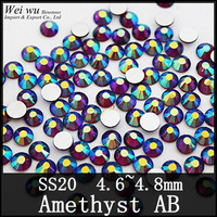 1440pcs Your Best Choice Amethyst AB Ss20 Shine Bright Non Heat Transfer Rhinestones