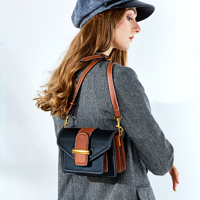 Hot Selling Famous Brand Women Genuine Leather Handbags High Quality Cowhide Leather Europe and American Style