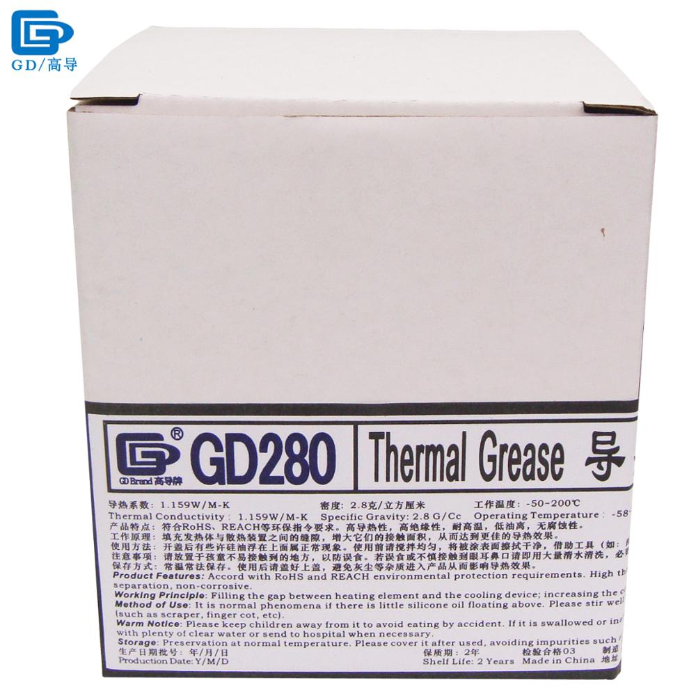 GD280 Thermal Conductive Grease Paste Silicone Plaster Heat Sink Compound Net Weight 1000 Grams Bottle Packaging White CN1000