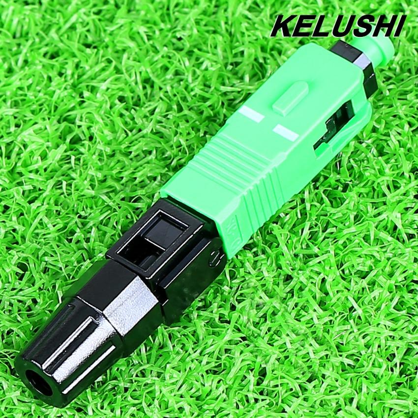 KELUSHI High Quality 100pcs a lot Fiber Optic Cold Connector wholesale SC APC Quick Splicer SC