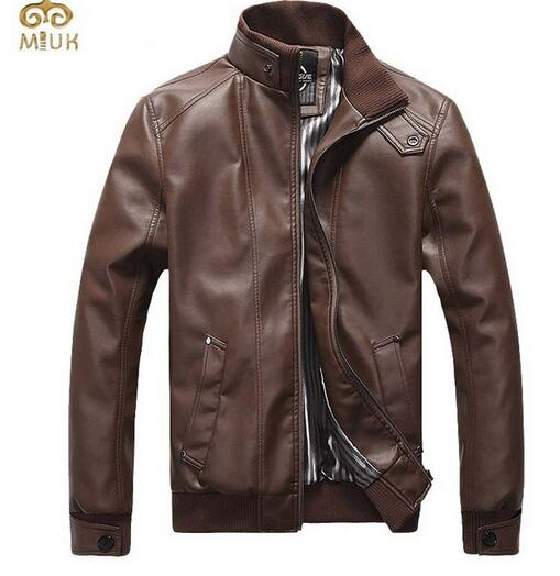 Plus Size Leather Jacket Men 5XL Stand Collar Solid PU Leather Men Jacket Slim Fit Black Coffee Veste Homme 2015 New Arrival