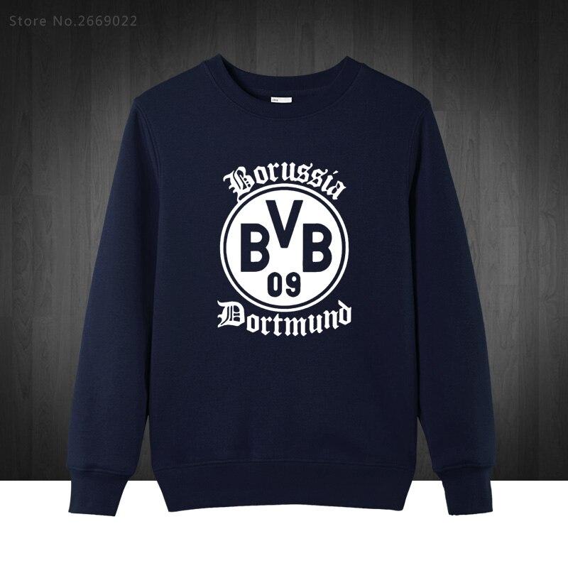 BVB Borussia Dortmund Foot ball Boy Mens Hoodies 2017 Autumn Winter Pullover Novelty Long Sleeve Cotton Sweatshirts For Man