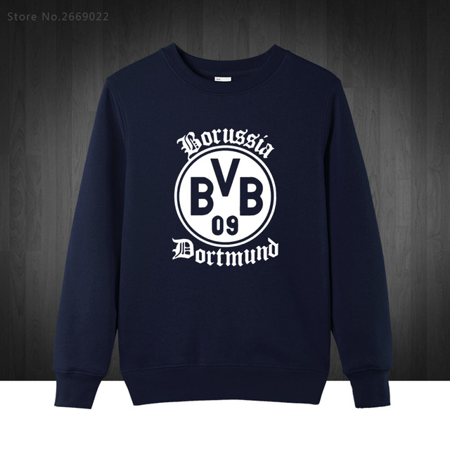 BVB Borussia Dortmund Foot ball Boy Mens Hoodies  2016 Autumn Winter Pullover Novelty Long Sleeve Cotton Sweatshirts For Man