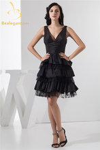 Модные сексуальные черные кружевные платья трапеции с v образным