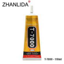 ZHANLIDA T-7000 110ml Epoxy Resin Liquid Glue Adhesives Leather Ceramics Phone Border Repair Rhinestone T7000 Glue Gun