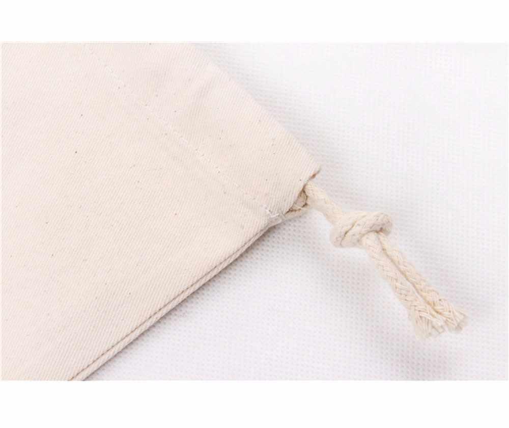 ISHOWTIENDA alışveriş çantası pamuk keten saklama paket torbaları İpli çanta küçük bozuk para cüzdanı seyahat kadın elbisesi çantası hediye kesesi # WL