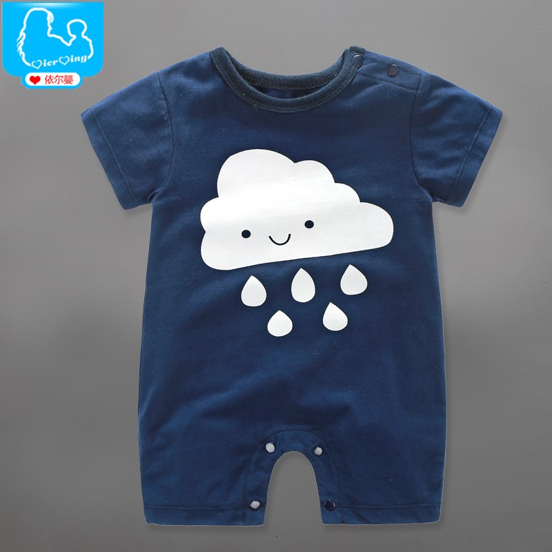 Summer Baby Boy Rompers 100% Cotton Short Sleeve Toddler Boys Clothing Sets Roupas Infant Cartoon Newborn Baby Girl Jumpsuits 100% cotton ropa bebe baby girl rompers newborn 2017 new baby boys clothing summer short sleeve baby boys jumpsuits dq2901