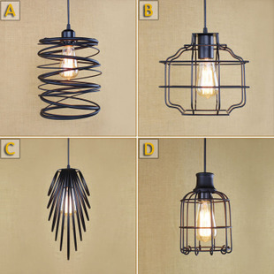 Retro Loft Style Iron Droplight Edison Industrial Vintage Pendant Light Fixtures Dining Room Home Hanging Lamp Indoor Lighting retro loft style iron cage droplight industrial edison vintage pendant lamps dining room hanging light fixtures home lighting