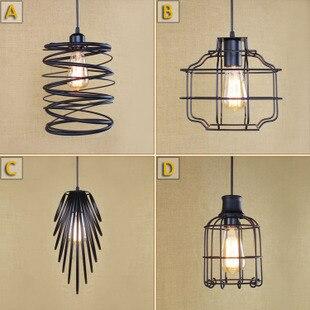 Retro Loft Style Iron Droplight Edison Industrial Vintage Pendant Light Fixtures Dining Room Home Hanging Lamp Indoor Lighting