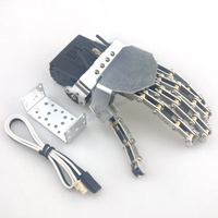Robot mechanical hand Five Fingers Mini bionic Humanoid Manipulator Left / Right Hand lengthened fingers with Servos