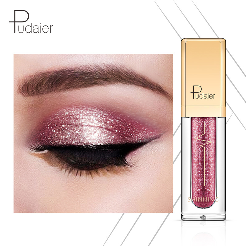 Pudaier 18 Colorful liquid eye shadow of charm Shine Eye Shadow Diamond Eye Shadow Pearl Eye shadow for beauty women gift
