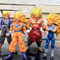 4pcs/lot Dragon Ball Super Saiyan Son Goku/Trunks/Vegeta/Broly Dragon Ball Z 16cm PVC Action Figure Model Boys Kids Gifts 16cm