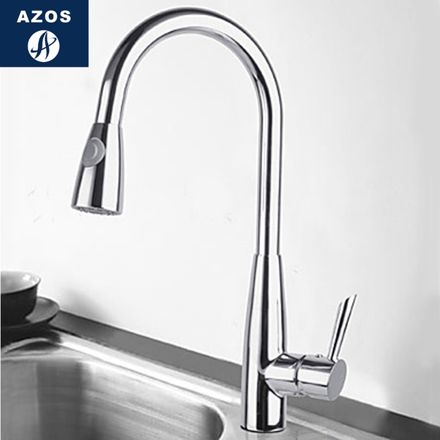 Kitchen Sink Faucets 2 Design Stainless Steel Chrome Polish Silver Free Swivel Pull Out Hose Brass Deck Mount Mixers CLCF011