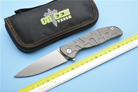 Green Thorn F95 Ball Bearings Folding Knife D2 Blade Carbon Fiber Titanium Handle Camping Hunting Outdoor