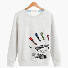 Fashion trend teenage print plus size plus size o-neck sweatshirt male loose outerwear