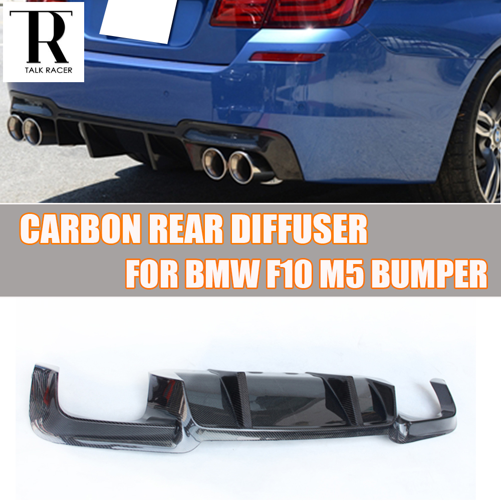 F10 M5 Carbon Fiber Rear Bumper Spoiler Diffuser for BMW F10 M5 M Bumper 2010 - 2017 ( NOT fit M-tech M-sport Bumper )
