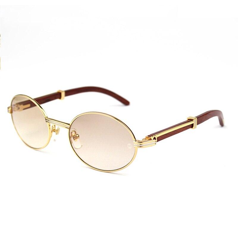 Vintage lunettes de Soleil Rondes Hommes Carter Lunettes Cadre Ovale lunettes de Soleil Femmes Mode Lunettes Rétro Buffalo Corne Lunettes Lunettes