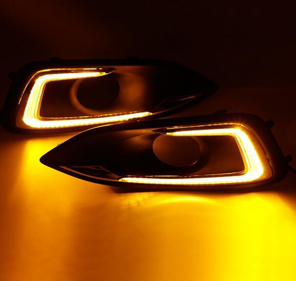 Car styling LED DRL Daytime Running Light For Chevy Malibu Fog Lamp DRL 2012 2013 2014 2015 2016 2pcs 2pcs new car styling led daytime running light drl waterproof for hyundai accent 2012 2013