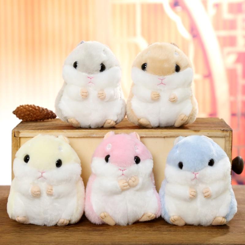 10cm Cute Plush Toys Kawaii Bag Backpack Pendant Keychain Stuffed Animals Kids Toys For Children Girl Birthday Gift Hamster Doll