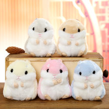 10cm Cute Plush Toys Kawaii Bag Backpack Pendant Keychain Stuffed Animals Kids Toys for Children Girl Birthday Gift Hamster Doll(China)