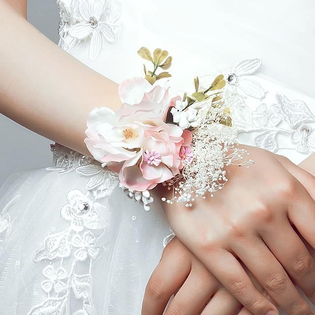 Rosa Koreanische Braut Brautjungfer Handgelenk Schmuck Hochzeit Oder