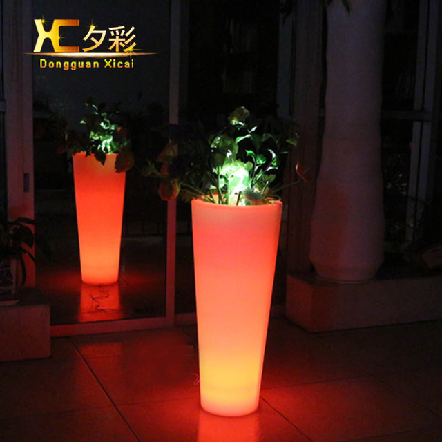 Large round plastic led flower pot garden home big floor vase large round plastic led flower pot garden home big floor vase decorative high pots for hotel workwithnaturefo