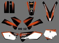 New (0557 Orange&Black ) TEAM GRAPHICS&BACKGROUNDS DECALS STICKERS Kits For KTM SX 85 2006 2007 2008 2009 2010 2011 2012