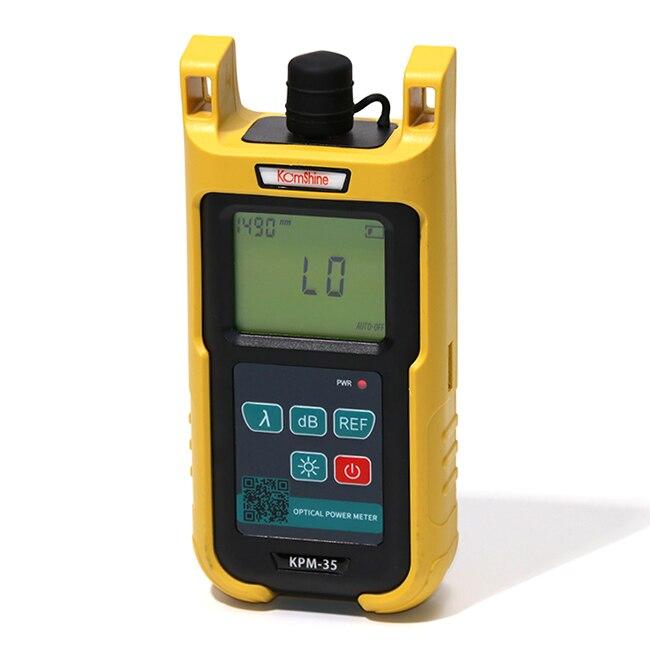 6 калиброванных длин волн волоконно-оптический измеритель мощности komshine kpm-35 FTTH оптоволоконный кабель Тесты Инструмент Сменный FC + разъем SC