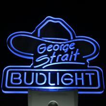 Ws0037 Bud Light George Strait Bar Pub Día Sensor/Noche Led Luz de La Noche