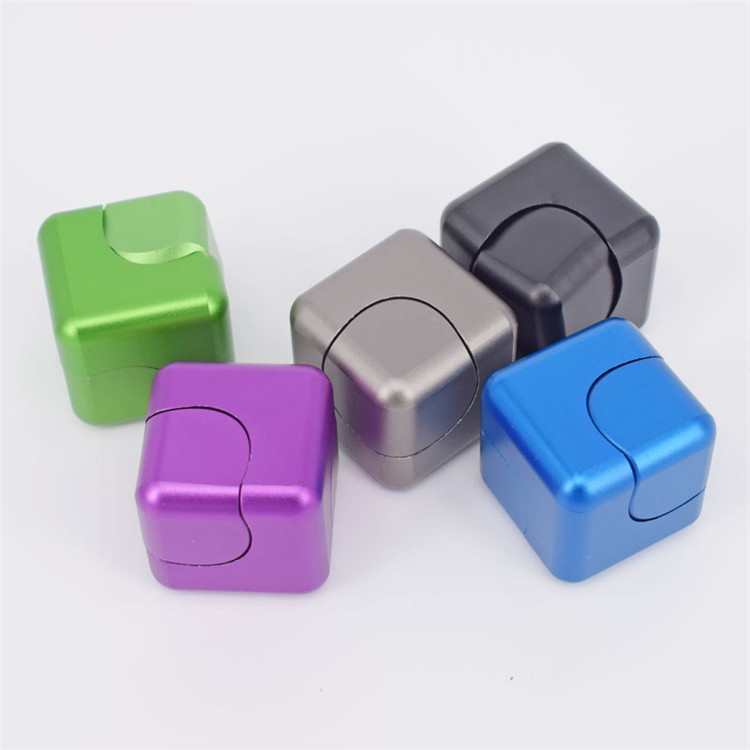Cube Dice Electroplating Finger Rotating Gyro Small ABS Cube EDC Decompression Toys Finger Spiral  30*30*30mm Wholesale