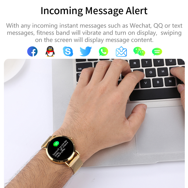 LEMFO 1.0 Inch Small Smart Watch Women Waterproof Fitness Bracelet Smartwatch For Android IOS Milanese Strap Wearable Devices