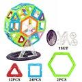 46 pçs/lote tamanho grande 3d diy blocos de construção da roda designer brinquedo magnético educacional enlighten bricks brinquedos para crianças