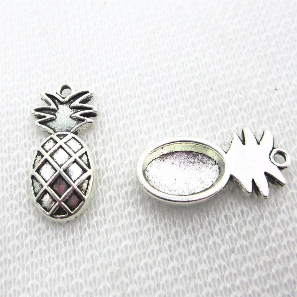 Hot selling 20pcs/lot Fruit pineapple ananas dangle charms drop charms for glass memory floating lockets diy jewelry