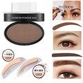 2017 6 Styles New Eye Makeup Eyebrows Styling Tool Easy to Wear Waterproof Black Brown Eyebrow Powder Makeup With Brow Stamp