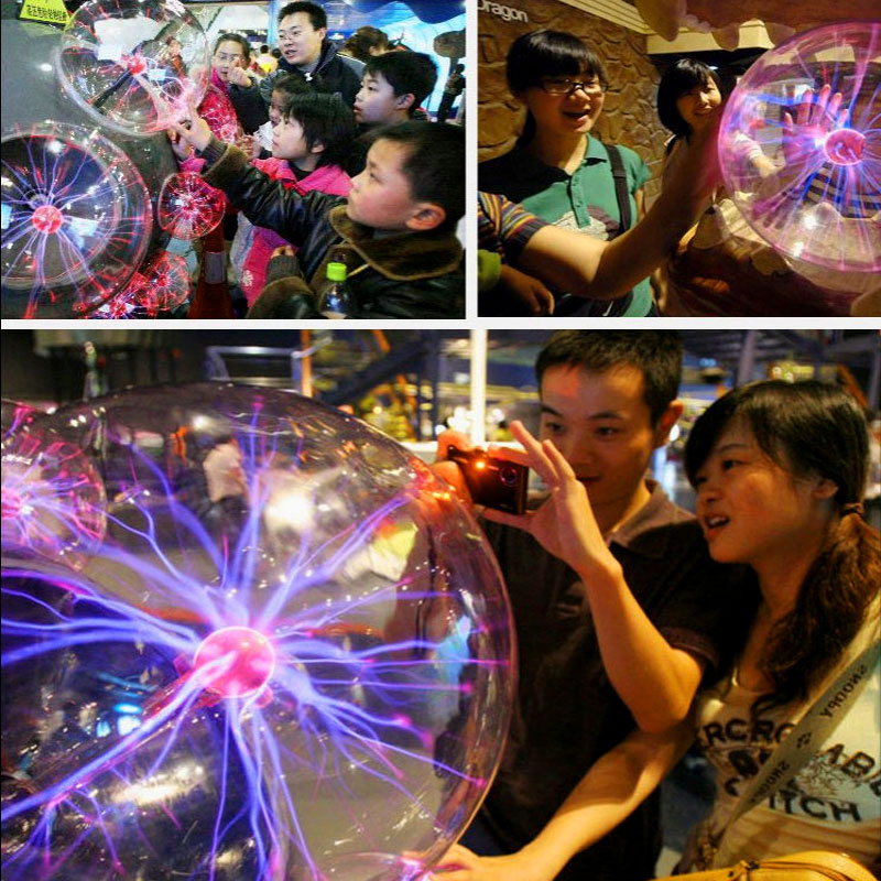 Image 5 - Plasma Ball Light Magic Crysta Ball Lamp Ion Sphere Lightning Carnival Atmosphere Lamps For KTV Purify Air Novelty Night Lights-in Novelty Lighting from Lights & Lighting
