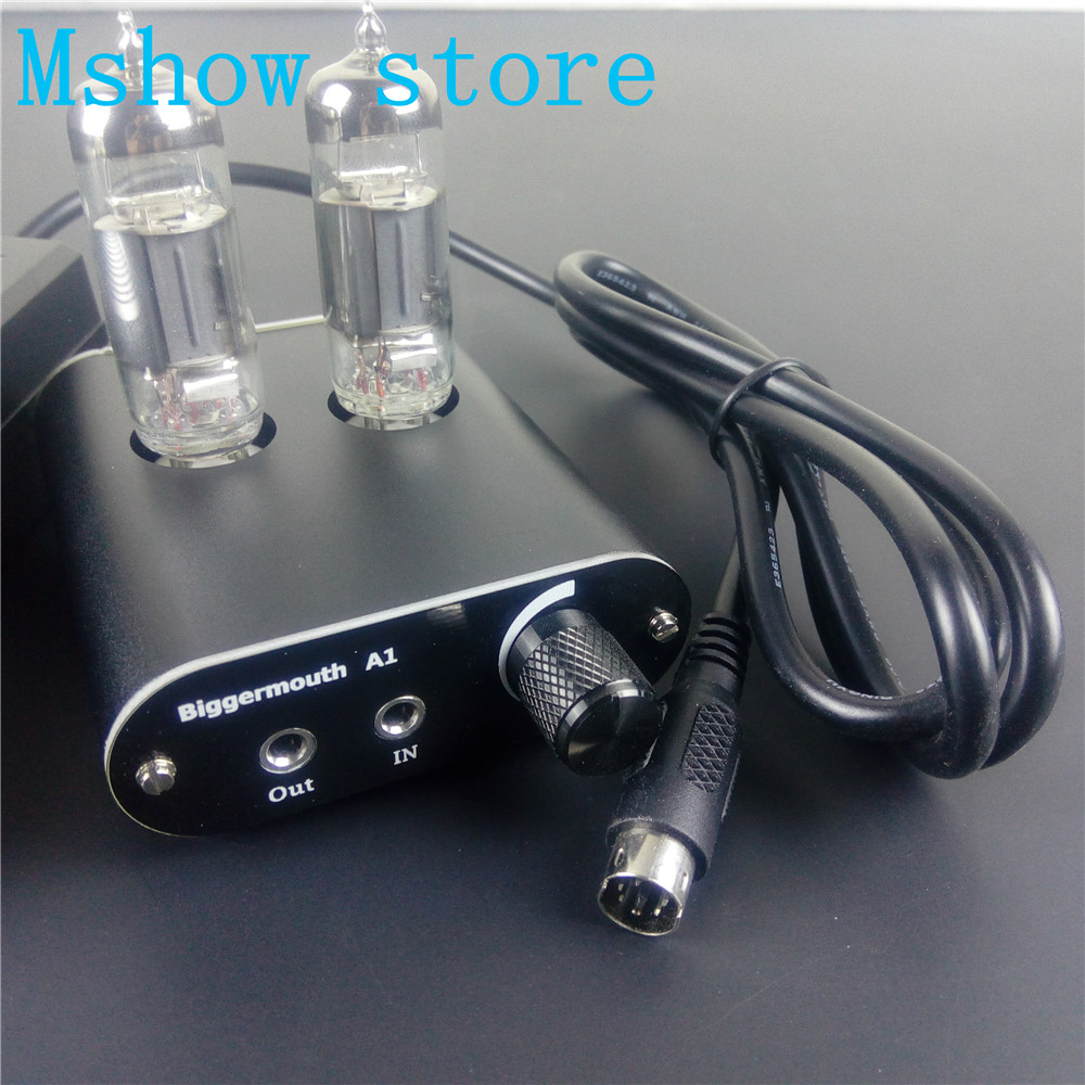 Mshow audio Class A 6J5 Valve Tube Buffer Classic 47 Headphone Amplifier Stereo HiFi Preamp Free shipping nordic modern e14 led resin fabric wall sconce bird shape metal painting wall lamp for home lighting aisle corridor light