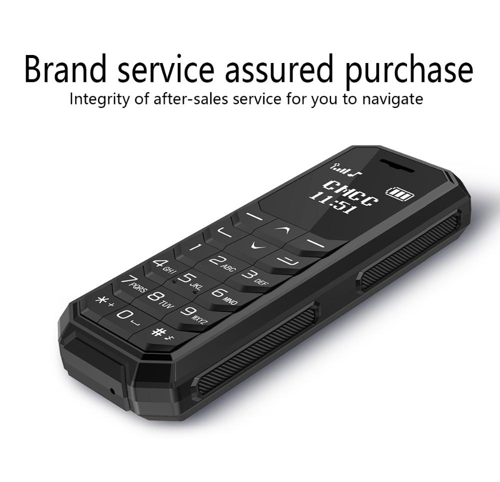 Мини карманный мобильный телефон AEKU KK1 KK2 0,66 дюймов беспроводной Bluetooth набор маленький сотовый телефон волшебный голос Русская клавиатура