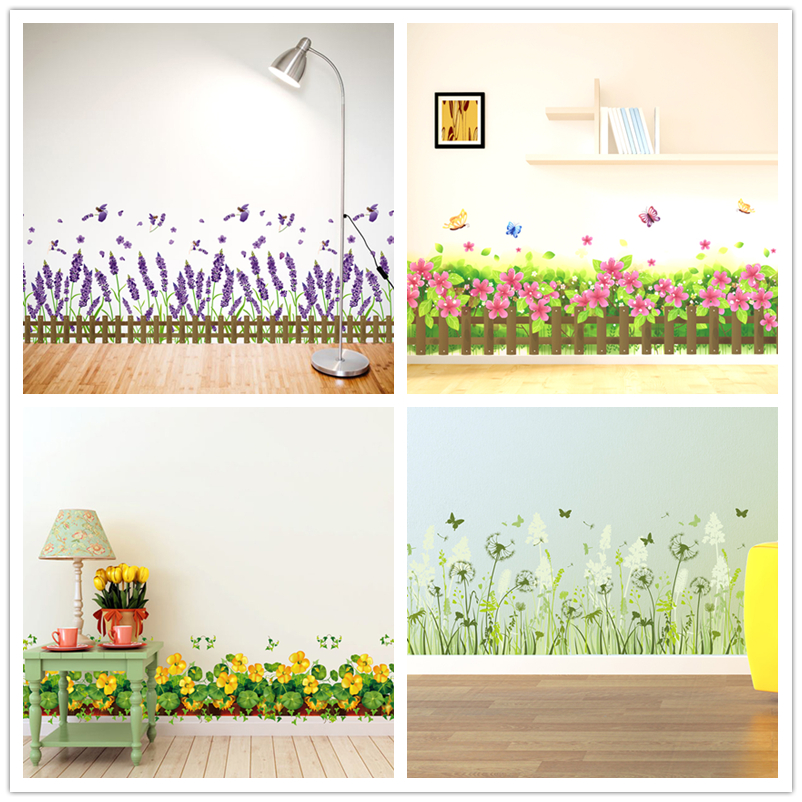 [SHIJUEHEZI] Baseboard Sticker Vinyl DIY Interior Design