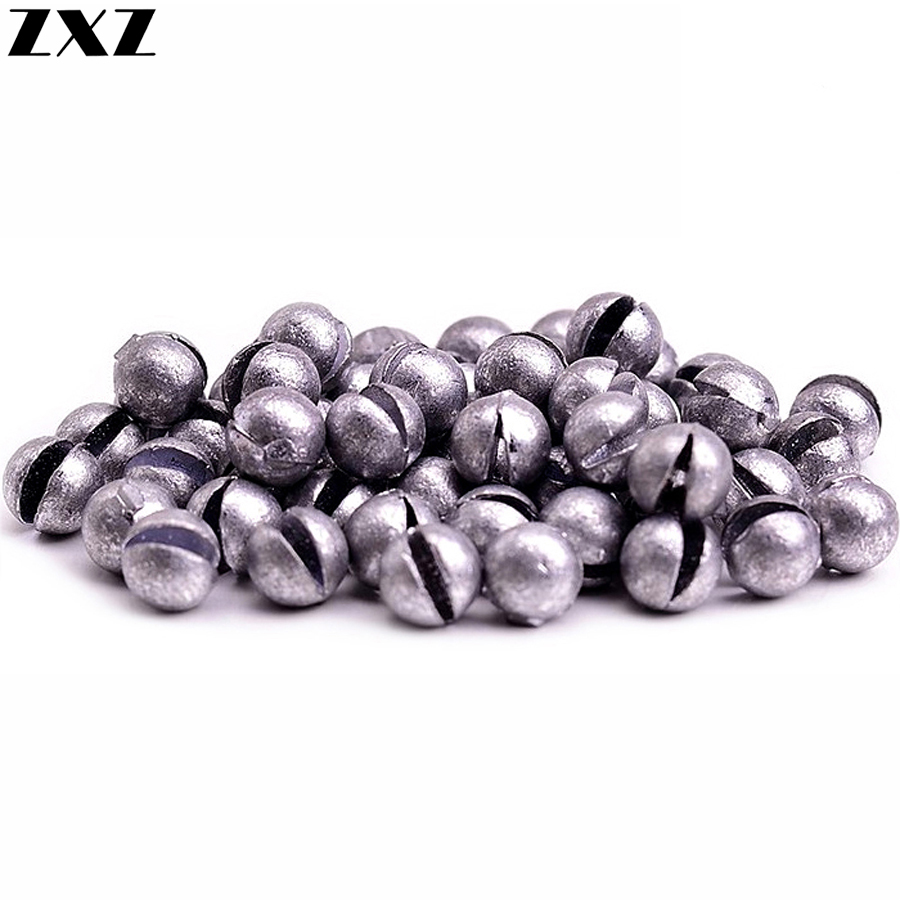 100pcs Round Split Shot Pure Lead Sinkers Weight Fishing Line Sinker Accessory Tackle Swivel For Saltwater Bass Carp Tool Drop
