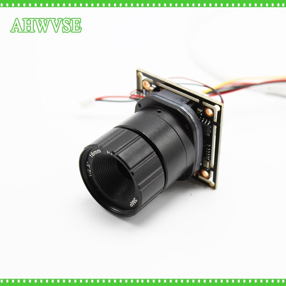 SONY IMX323 Capteur Faible Éclairage AHDH Caméra 16 MM OBJECTIF Mini AHD Caméra Module IRCUT IR Filtre AHDH 1080 P avec Bnc Port