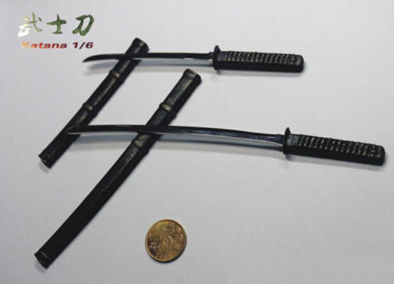 1/6 escala figura accesorio WK88002 Katana espada modelo de juguete para 12 ''figura de acción muñeca